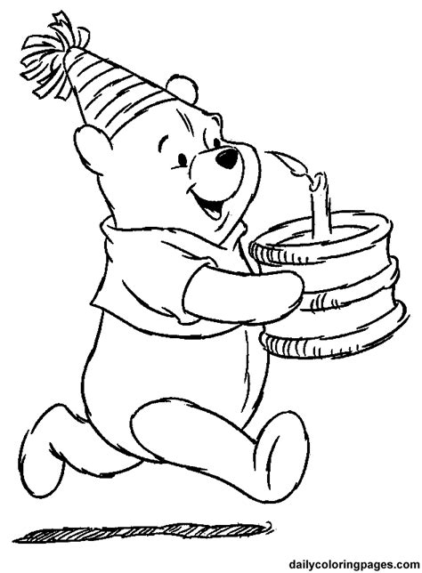 coloring pages winnie the pooh winnie the pooh coloring pages birthday