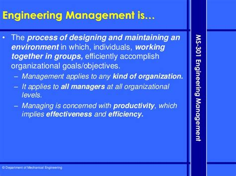 Difference Between Engineering Management And Mba by 1 Introduction To Engineering Management