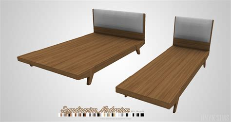 Scandinavian Bed Frame My Sims 4 Josef And Scandinavian Bed Frames By Kiararawks
