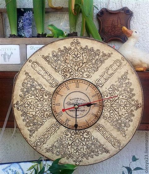 Decoupage Clock - 120 best decoupage clocks images on
