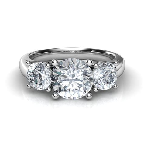 trilogy 3 engagement ring in 14k gold