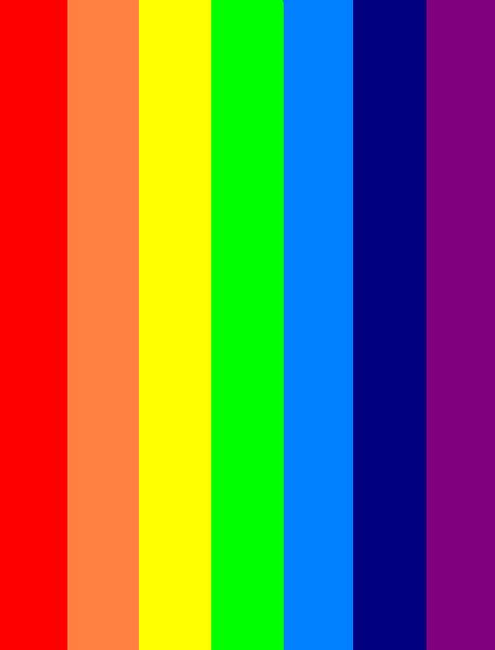 what are the seven colors of the rainbow file seven colors rainbow png wikimedia commons