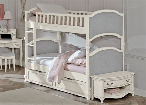 Upholstered Bunk Bed District17 White Adalene Upholstered Bunk Bed Bunk Beds