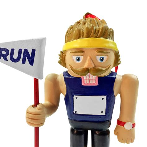 runner nutcracker resin ornament gone for a run