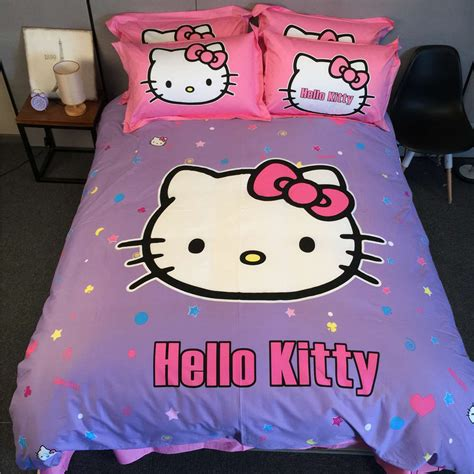 Popular Queen Hello Kitty Bedding Set Buy Cheap Queen Hello Bedding