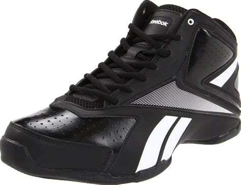 reebok black basketball shoes reebok mens court general mid basketball shoe in black for