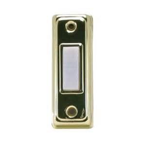 home depot doorbell iq america wired lighted doorbell push button brass and