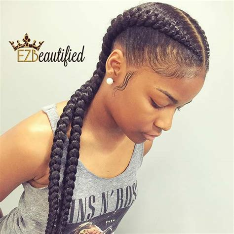 two cornrow braided hairstyle 31 cornrow styles to copy for summer page 3 of 3 stayglam