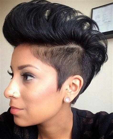 hairstyles for poofy black hair 24 stunning short hairstyles for black women mohawks