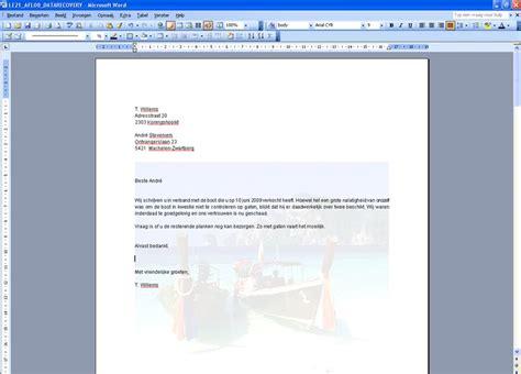 Brief In Word Watermerk In Word Clickx
