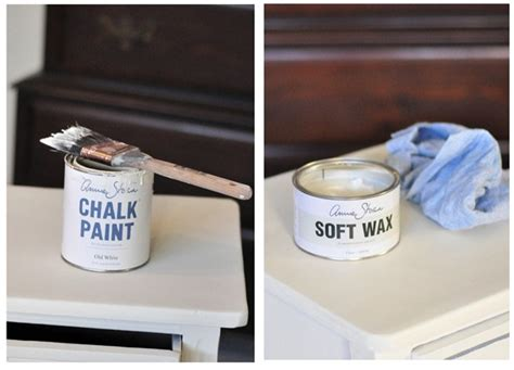 chalkboard paint and wax new painted nightstand centsational