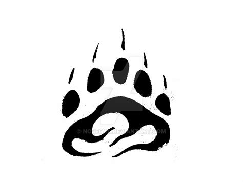 tribal bear paw tattoo tribal paw print by nosegal on deviantart