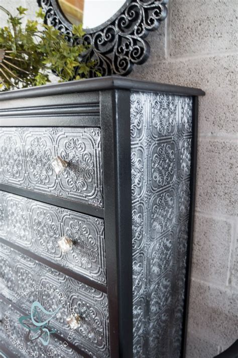 Wallpaper On Dresser by Decoupaged Wallpaper Dresser With Gf Chalk Style Paint And Pearl Effects General Finishes