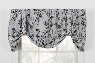 Tie Up Window Curtains Meadow Open Floral Print Tie Up Valance Window Curtain Window Toppers