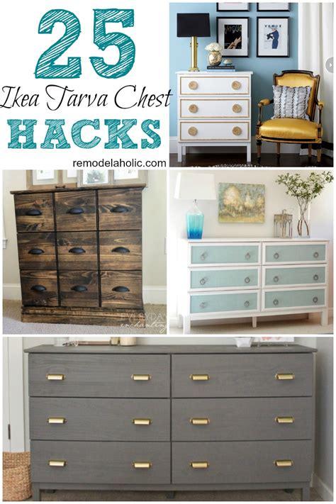 Solid Wood L Desk Remodelaholic 25 Ikea Tarva Chest Hacks