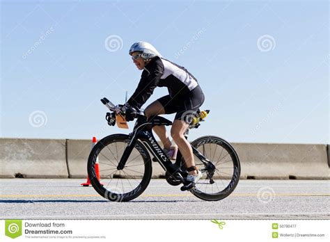 coeur alene ironman cycling event editorial photography