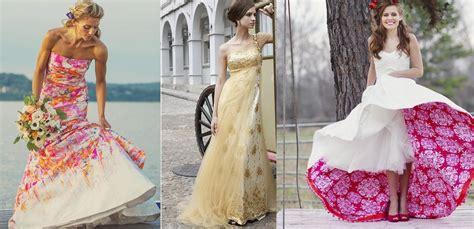 abiti da sposa con fiori colorati abiti sposa colorati 2015 smodatamente