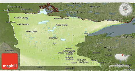 physical map of minnesota physical panoramic map of minnesota darken