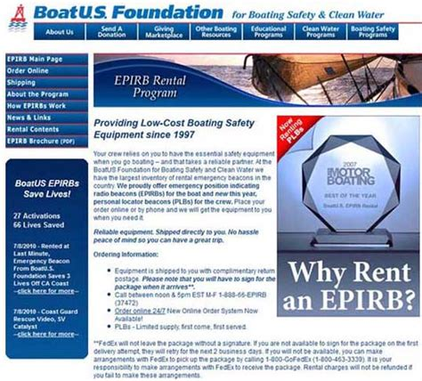 2012 annual report boatu s foundation - Boatus Epirb Rental