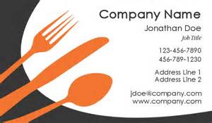 business card for catering services catering business cards