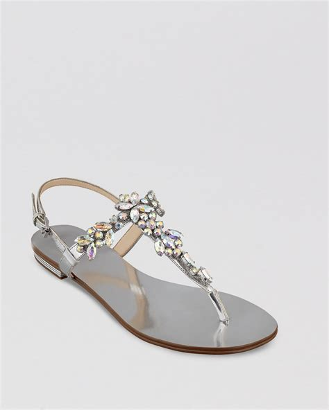 silver sandals ivanka sandals in silver lyst