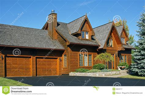 canadian house canadian wooden house stock image image of property stain 6824117
