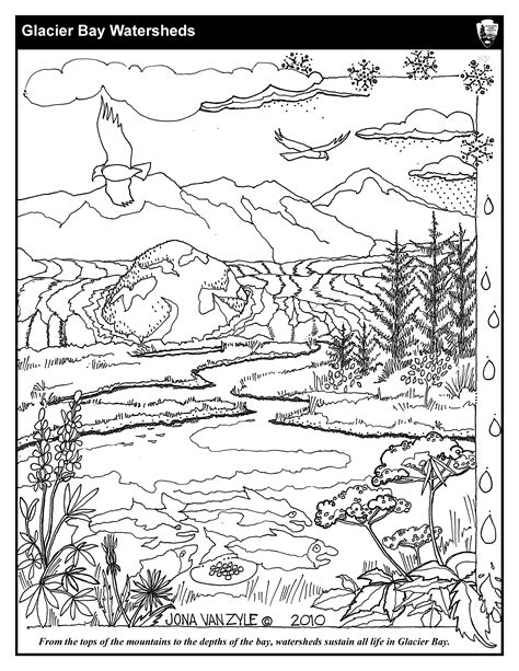 coloring sheet coloring sheets glacier bay national park preserve u