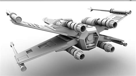 best x wing model x wing 3d back view by gladiusm on deviantart