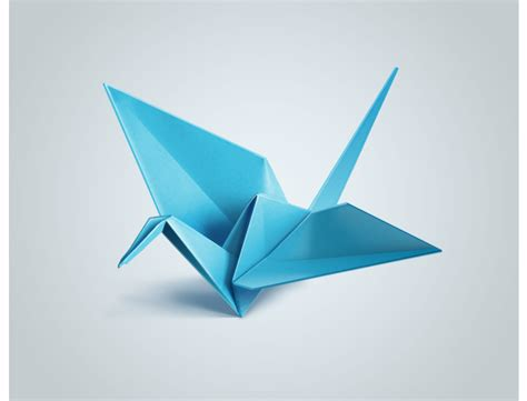 Flying Origami Crane - origami bird