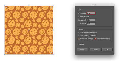 adobe illustrator transform pattern how to create a seamless halloween pumpkin pattern in