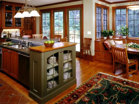 arts and crafts style kitchen cabinets craftsman style kitchen cabinets hgtv pictures ideas hgtv