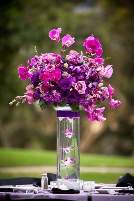 Wedding Center Flowers by Best 25 Purple Orchids Ideas On