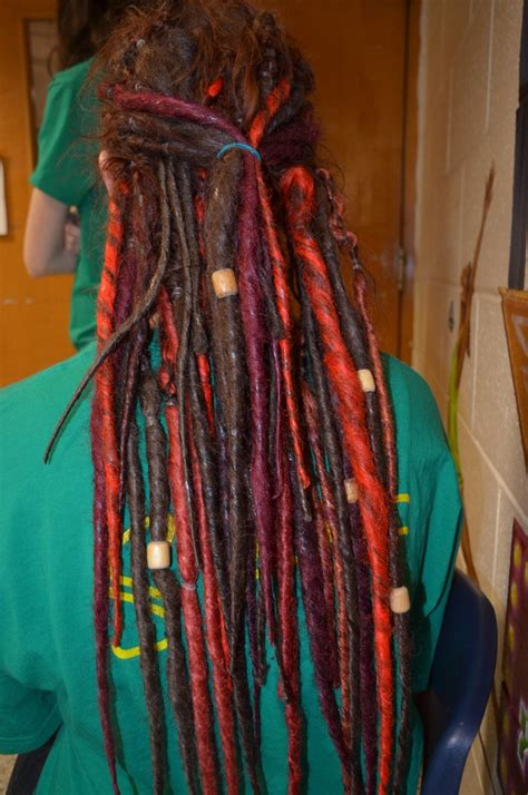 wooden dread synthetic dreadlocks with wooden dreads