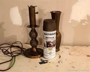 Vase Light Base Lamp Makeover With Metallic Bronze Spray Paint Petticoat