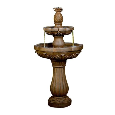 jeco classic pineapple outdoor indoor water fountain