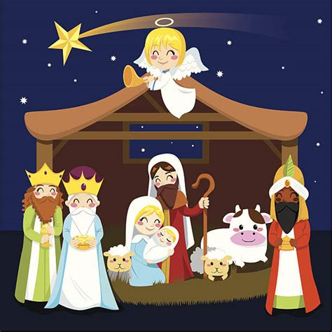 clipart presepe royalty free nativity clip vector images