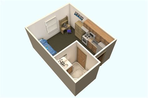 Efficiency Apartment Floor Plans by Laker Village Calder Apartments Housing Students