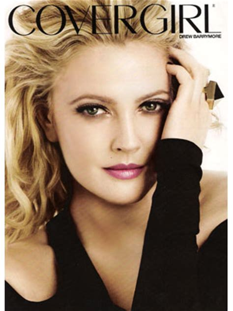 Drew Barrymore Signs Major Caign With Covergirl Cosmetics by Drew Barrymore For Covergirl Endorsements