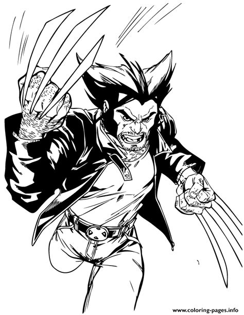 coloring pages wolverine x x wolverine running coloring pages printable