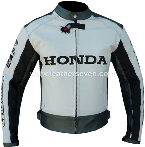 white motorbike jacket honda white leather and rockets on pinterest
