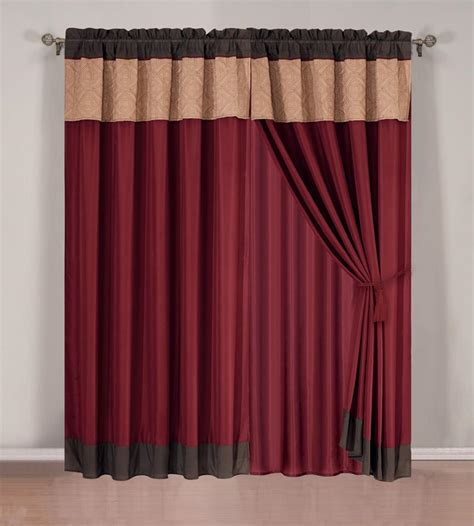 burgundy color curtains burgundy curtain valances masata design burgundy