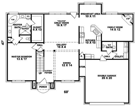 georgian trail colonial home plan 087d 0763 house plans and more