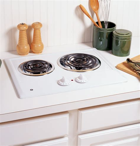 Burner Electric Cooktop - jp202dww ge two burner electric cooktop white