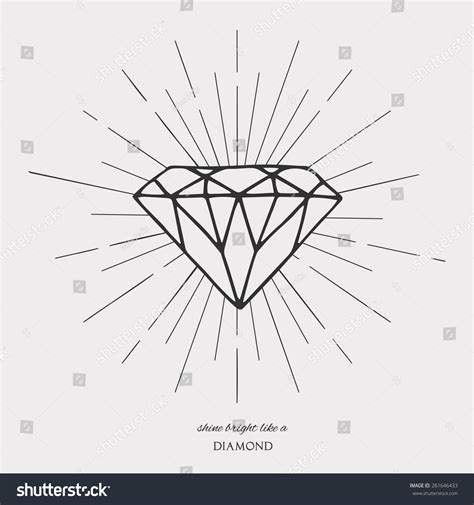diamond tattoo vector diamond vintage hipster labels tattoo design stock vector