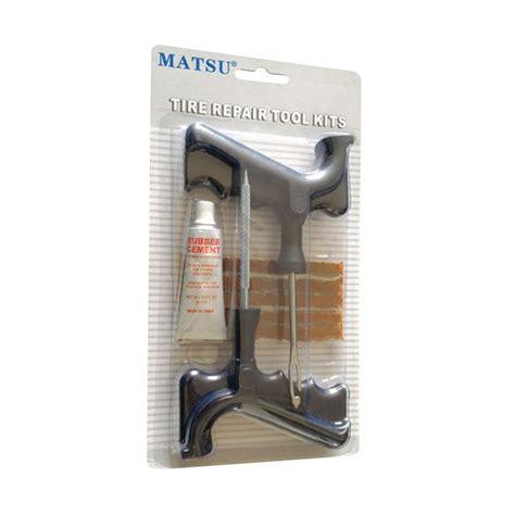 Alat Tambal Ban Tubeless Permanen Mobil Dan Motor jual matsu tire repair tool kit set alat tambal ban tubles motor dan mobil harga