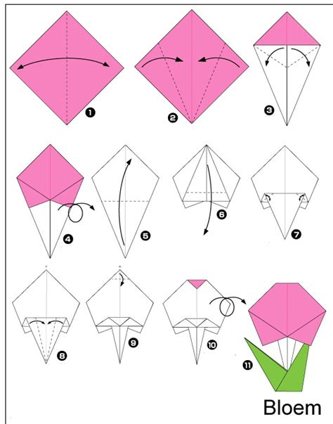 Easy Origami Flowers For - crafts actvities and worksheets for preschool toddler and