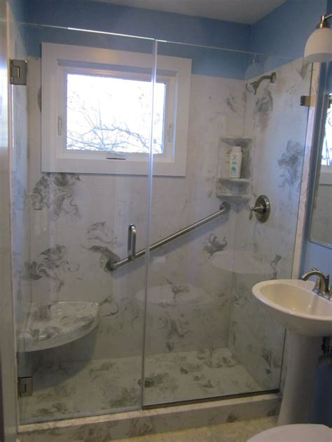 cultured marble bathroom cultured marble shower replaced a standard 5 tub bathrooms pinterest cultured