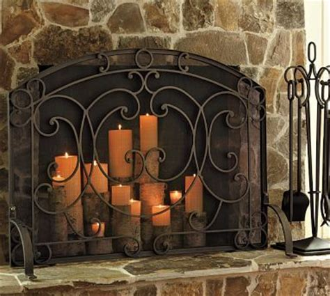 candle fireplace screen fireplace candles decorating ideas