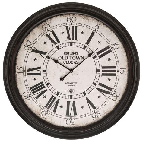 black  town wall clock modern contemporary furniture