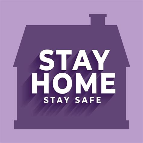 stay  home stay safe poster  house silhouette